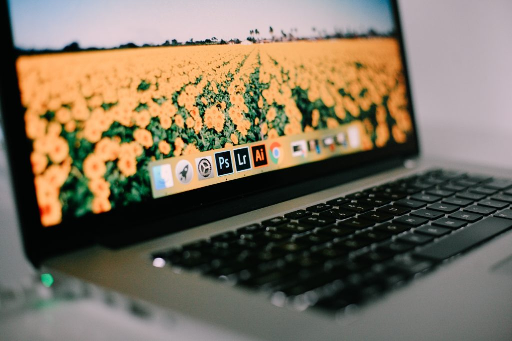Photo du dock Mac avec icône de la suite Adobe