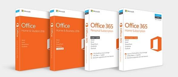 Photo des logiciels Microsoft Office 365