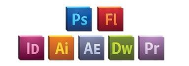 Icone suite Adobe