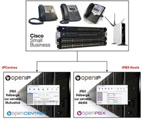Schéma hébergement pour professionnel - OpenIP